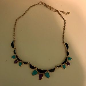 Scalloped design statement necklace